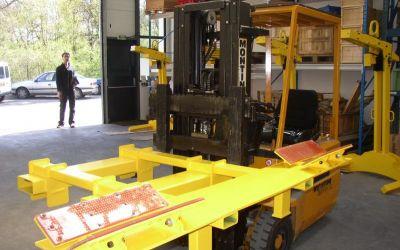 Support bobine 200kg  pour chariot élévateur
